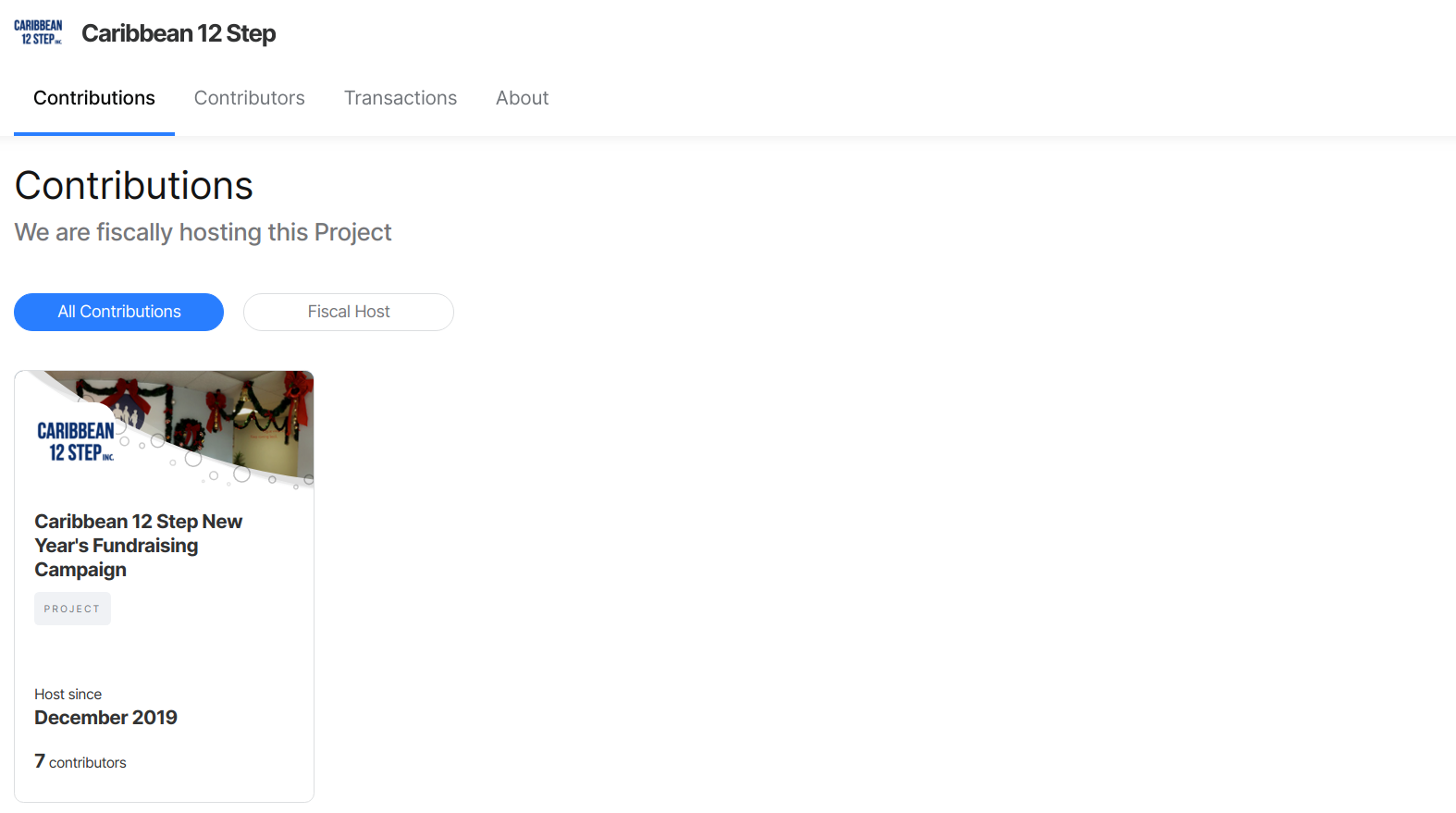 Projects page screenshot